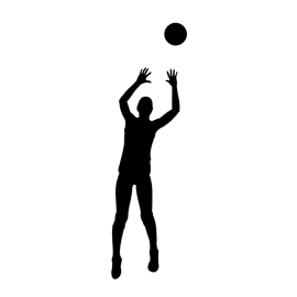 Volleyball Setter Silhouette Stencil
