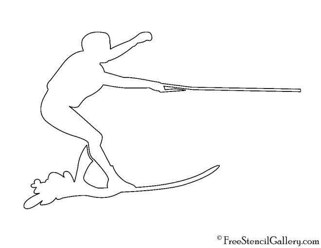 Water skier silhouette stencil free gallery