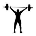 Weightlifter Silhouette Stencil