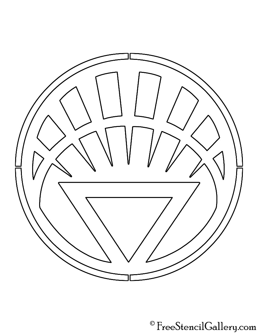 White Lantern Corps Symbol Stencil