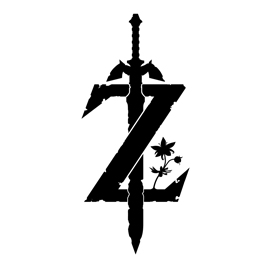 Zelda – Breath of the Wild Logo Stencil