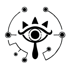Zelda – Breath of the Wild Sheikah Eye Logo Stencil