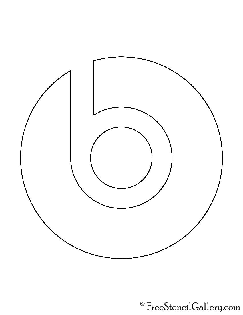 Beats Logo Stencil Free Stencil Gallery
