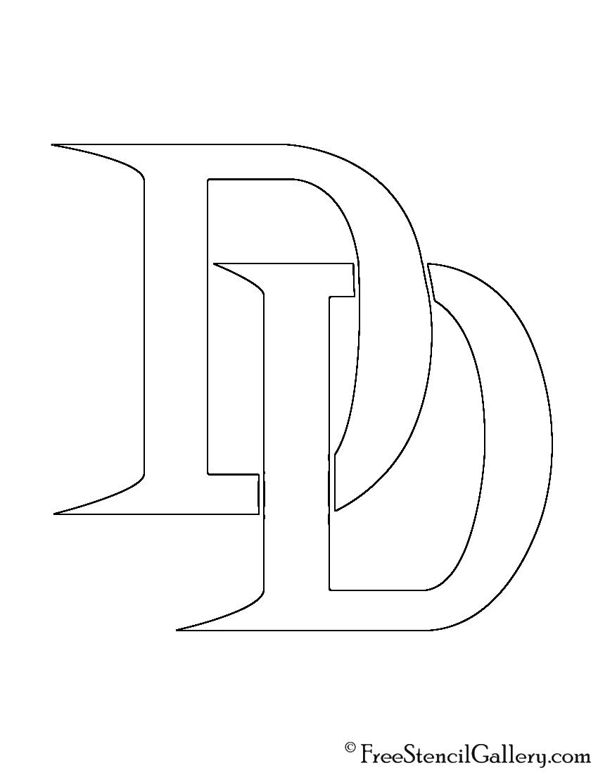 Daredevil Symbol Stencil