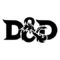 Dungeons and Dragons Logo Stencil