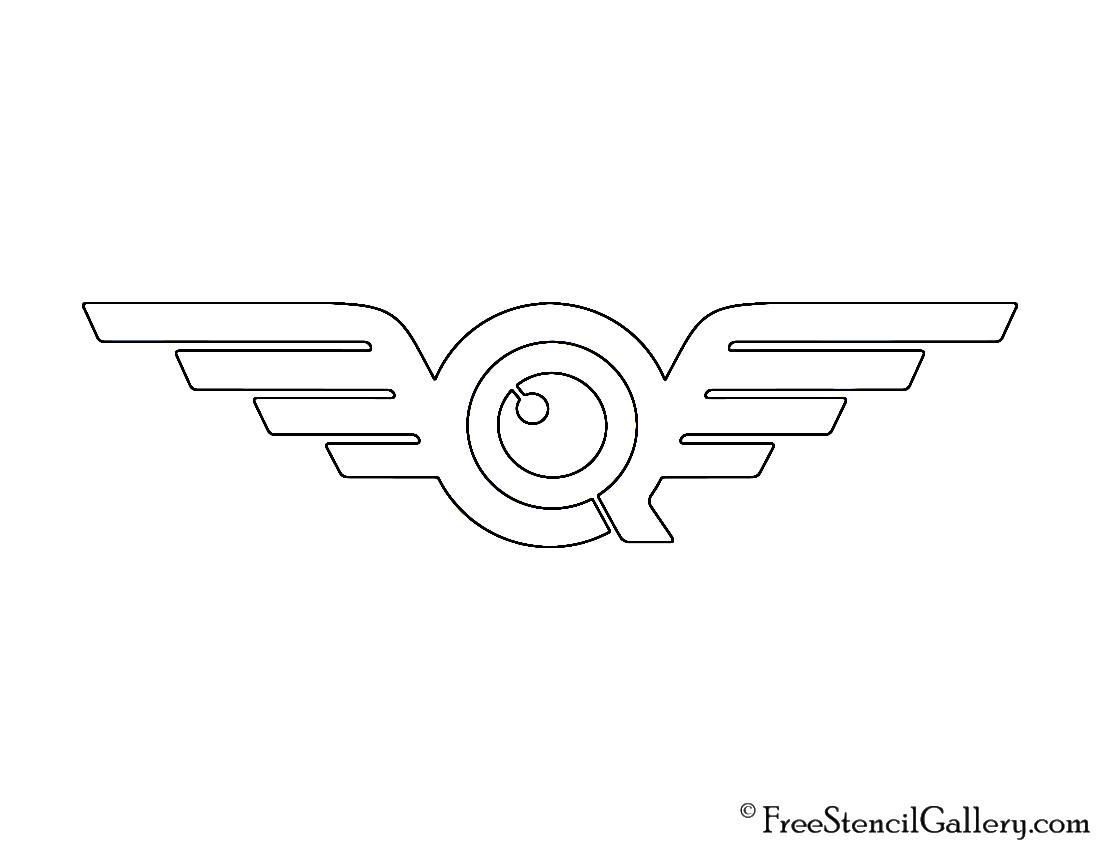 FlyQuest Logo Stencil