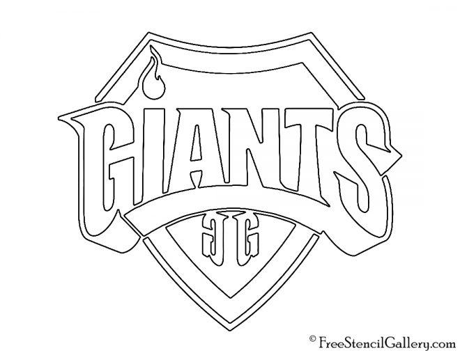 Giants Gaming Logo Stencil