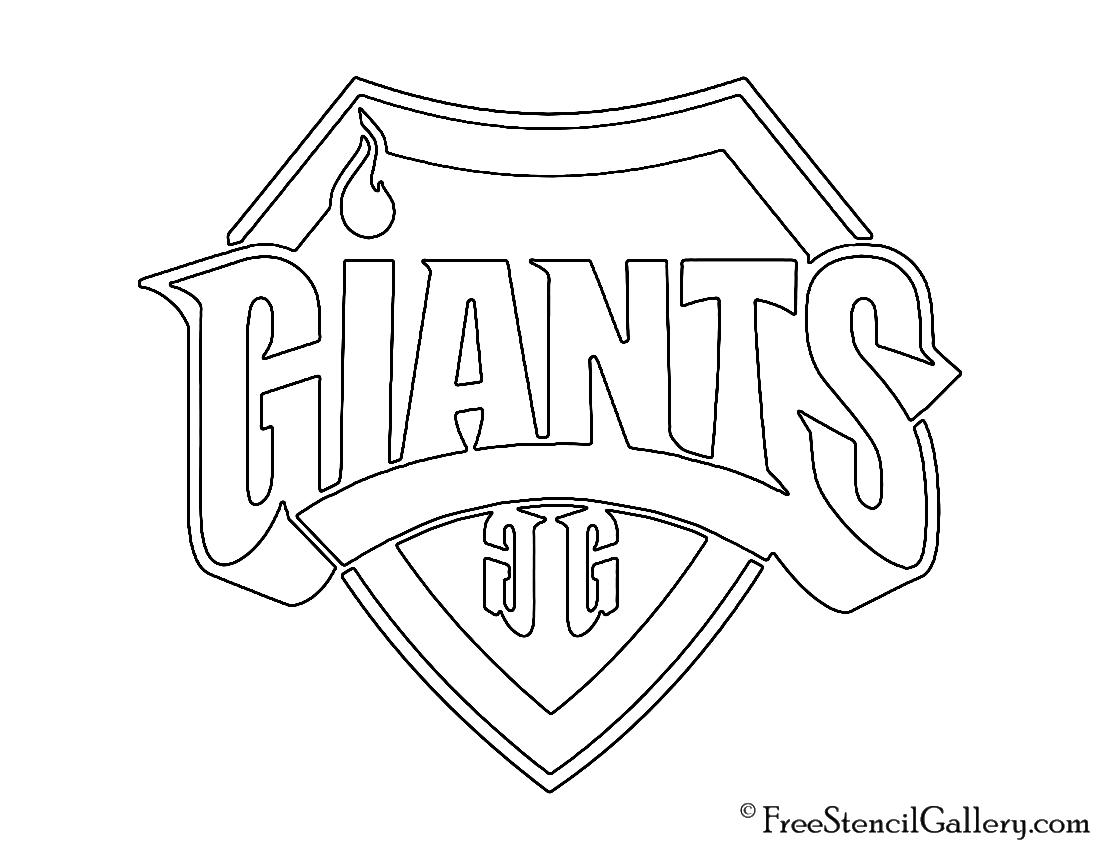 Giants Gaming Logo Stencil