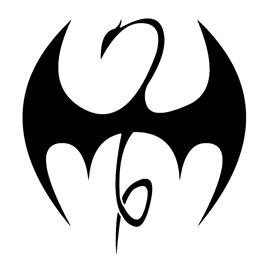 Iron Fist Symbol Stencil