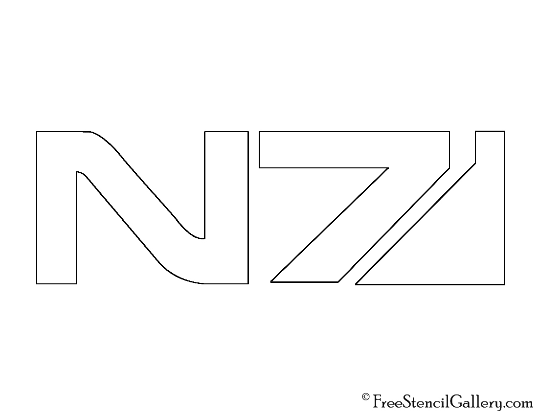 Mass Effect N7 Logo Stencil