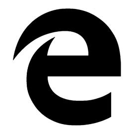 Microsoft Edge Logo Stencil