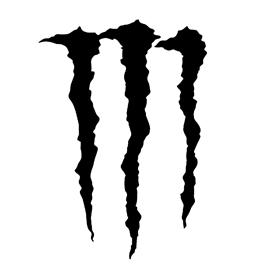 Monster Energy Drink Logo Stencil