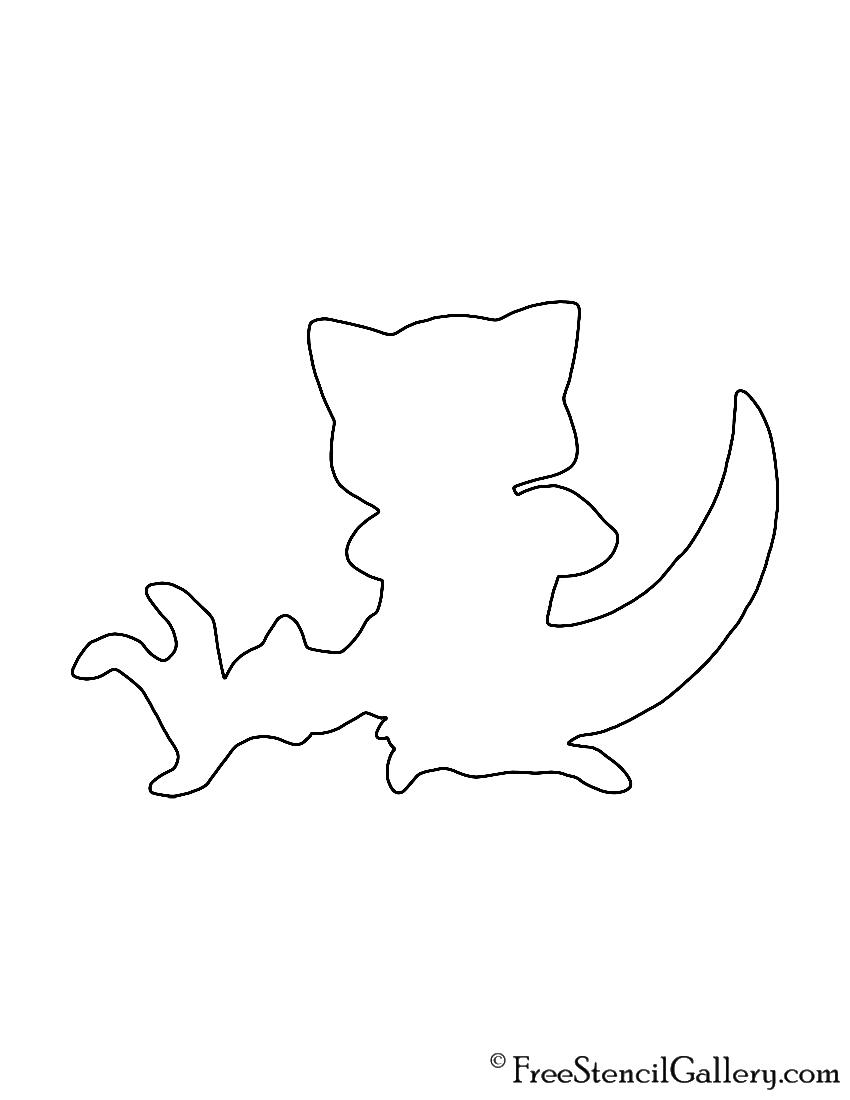 Pokemon - Abra Silhouette Stencil