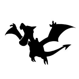Pokemon – Aerodactyl Silhouette Stencil