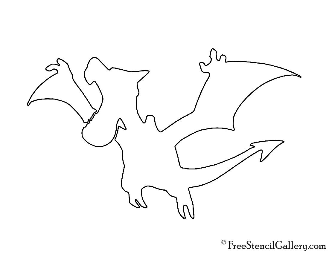 Pokemon - Aerodactyl Silhouette Stencil