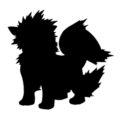 Pokemon - Arcanine Silhouette Stencil