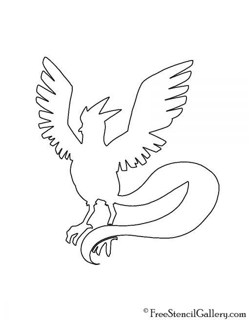 Pokemon - Articuno Silhouette Stencil