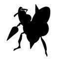 Pokemon - Beedrill Silhouette Stencil