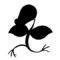 Pokemon - Bellsprout Silhouette Stencil