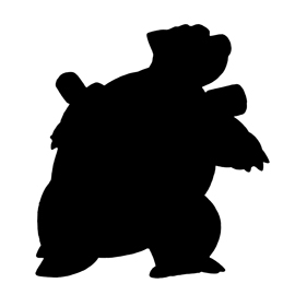 Pokemon – Blastoise Silhouette Stencil