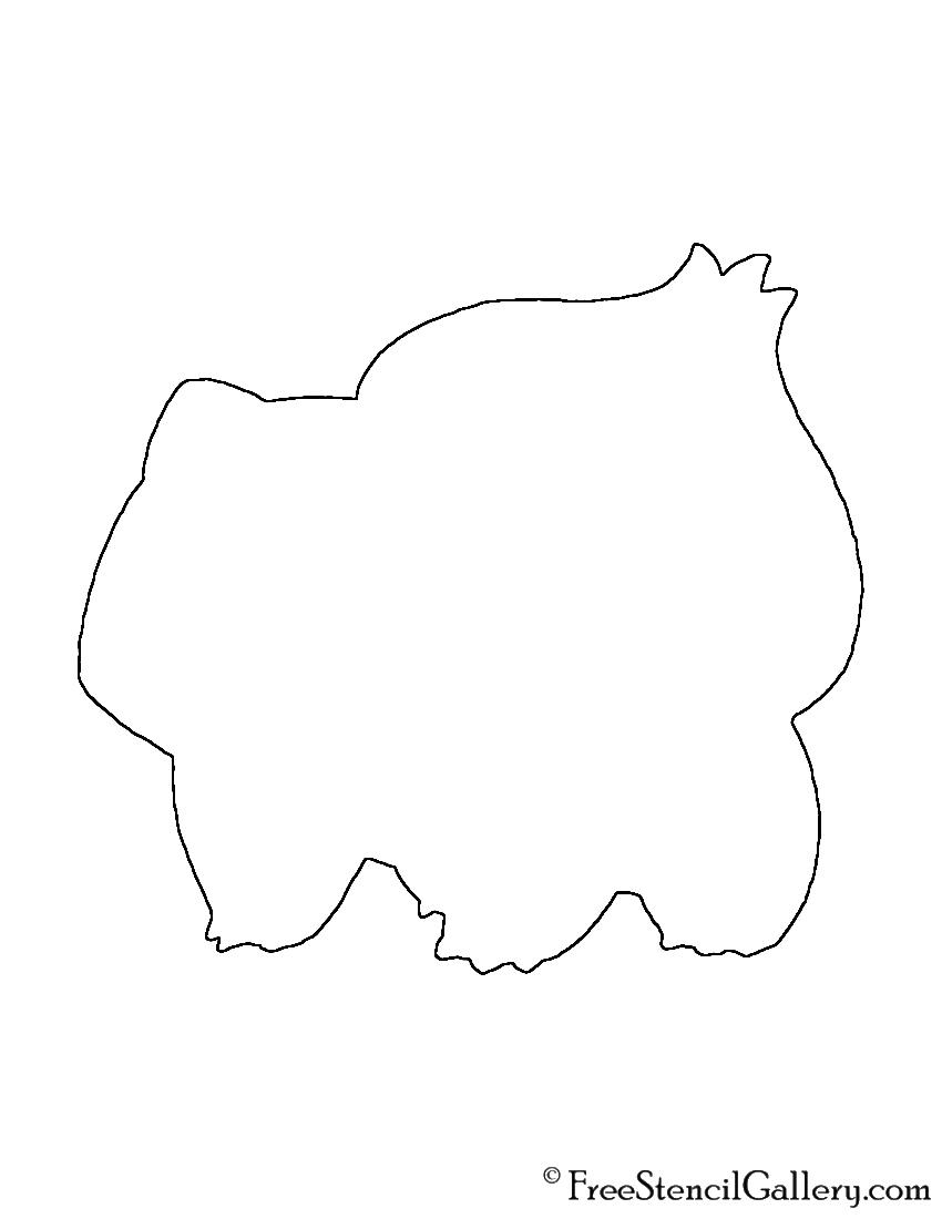 Pokemon - Bulbasaur Silhouette Stencil