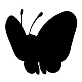 Pokemon – Butterfree Silhouette Stencil