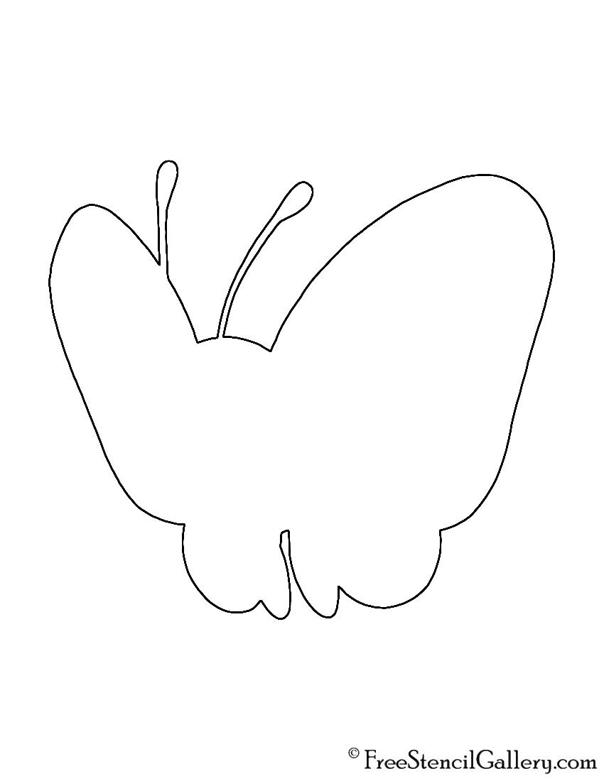 Pokemon - Butterfree Silhouette Stencil
