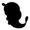 Pokemon - Caterpie Silhouette Stencil