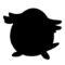 Pokemon - Chansey Silhouette Stencil