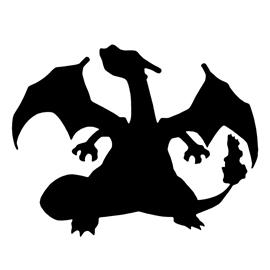 Pokemon – Charizard Silhouette Stencil