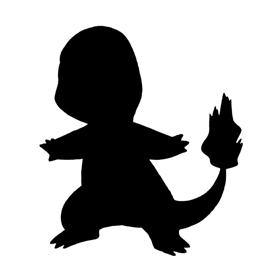 Pokemon – Charmander Silhouette Stencil
