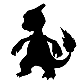 Pokemon – Charmeleon Silhouette Stencil