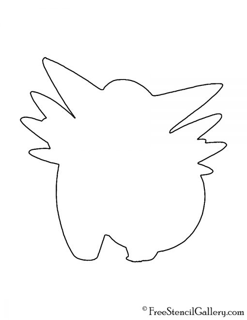 Pokemon - Clefable Silhouette Stencil