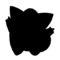 Pokemon - Clefairy Silhouette Stencil