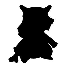 Pokemon – Cubone Silhouette Stencil