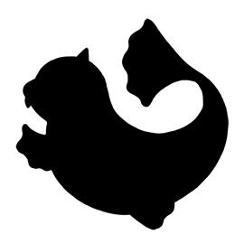 Pokemon – Dewgong Silhouette Stencil