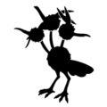 Pokemon - Dodrio Silhouette Stencil