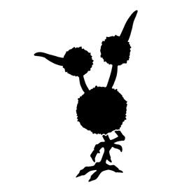 Pokemon – Doduo Silhouette Stencil