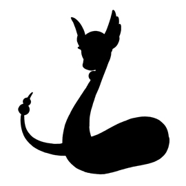 Pokemon – Dragonair Silhouette Stencil