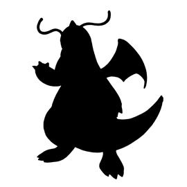 Pokemon – Dragonite Silhouette Stencil