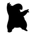 Pokemon - Drowzee Silhouette Stencil