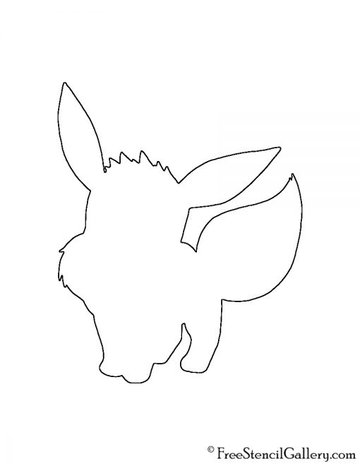 Pokemon - Eevee Silhouette Stencil