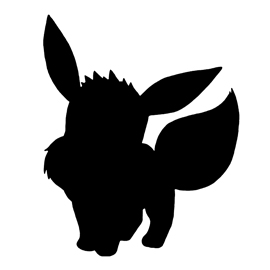 Pokemon – Eevee Silhouette Stencil