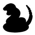 Pokemon - Ekans Silhouette Stencil