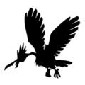 Pokemon - Fearow Silhouette Stencil