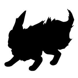 Pokemon – Flareon Silhouette Stencil