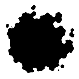 Pokemon – Gastly Silhouette Stencil