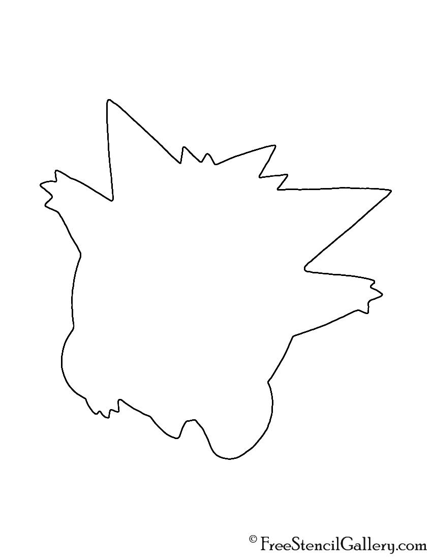 Pokemon - Gengar Silhouette Stencil