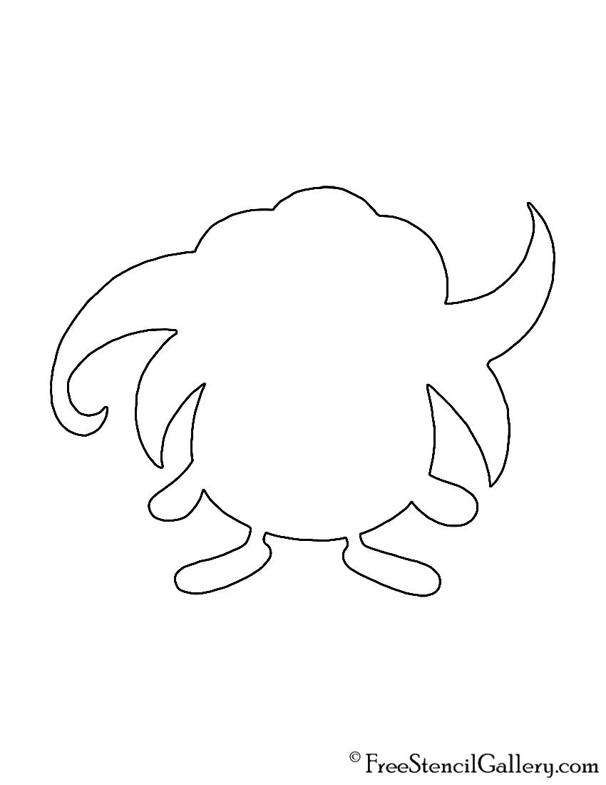 Pokemon - Gloom Silhouette Stencil