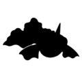 Pokemon - Goldeen Silhouette Stencil